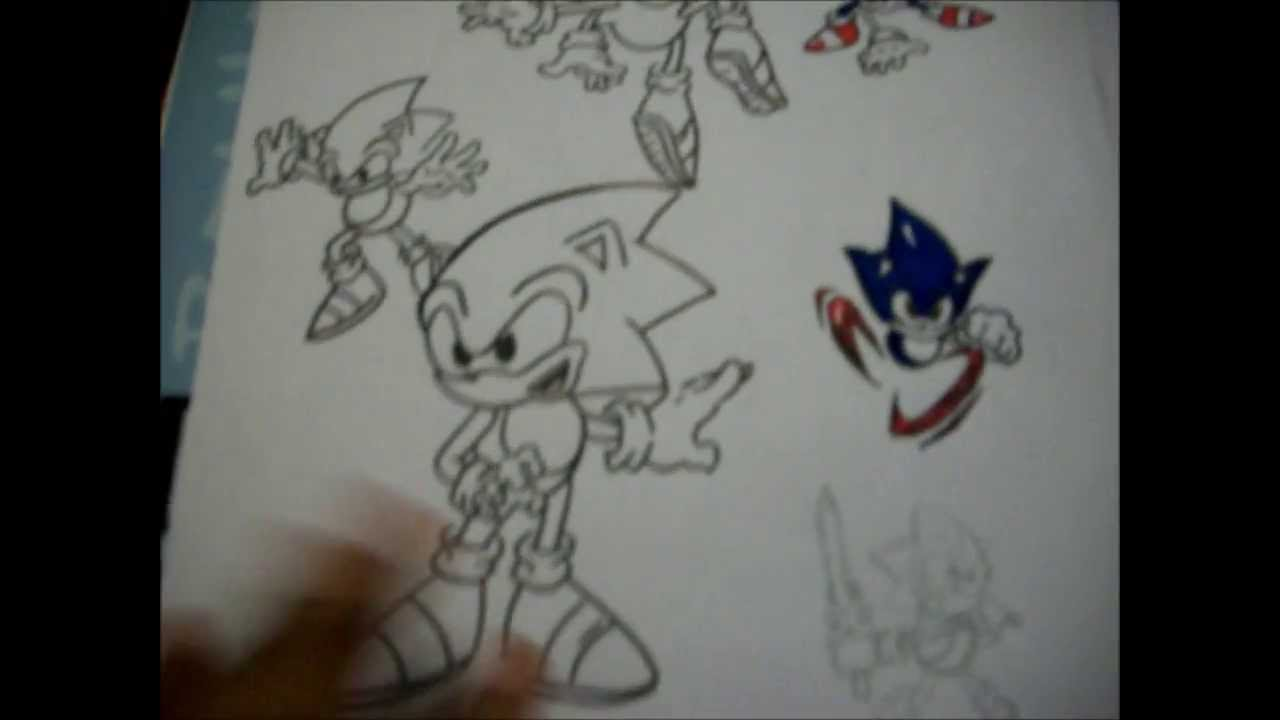 1280x720 Sonic Sketch Practice sketch Book
