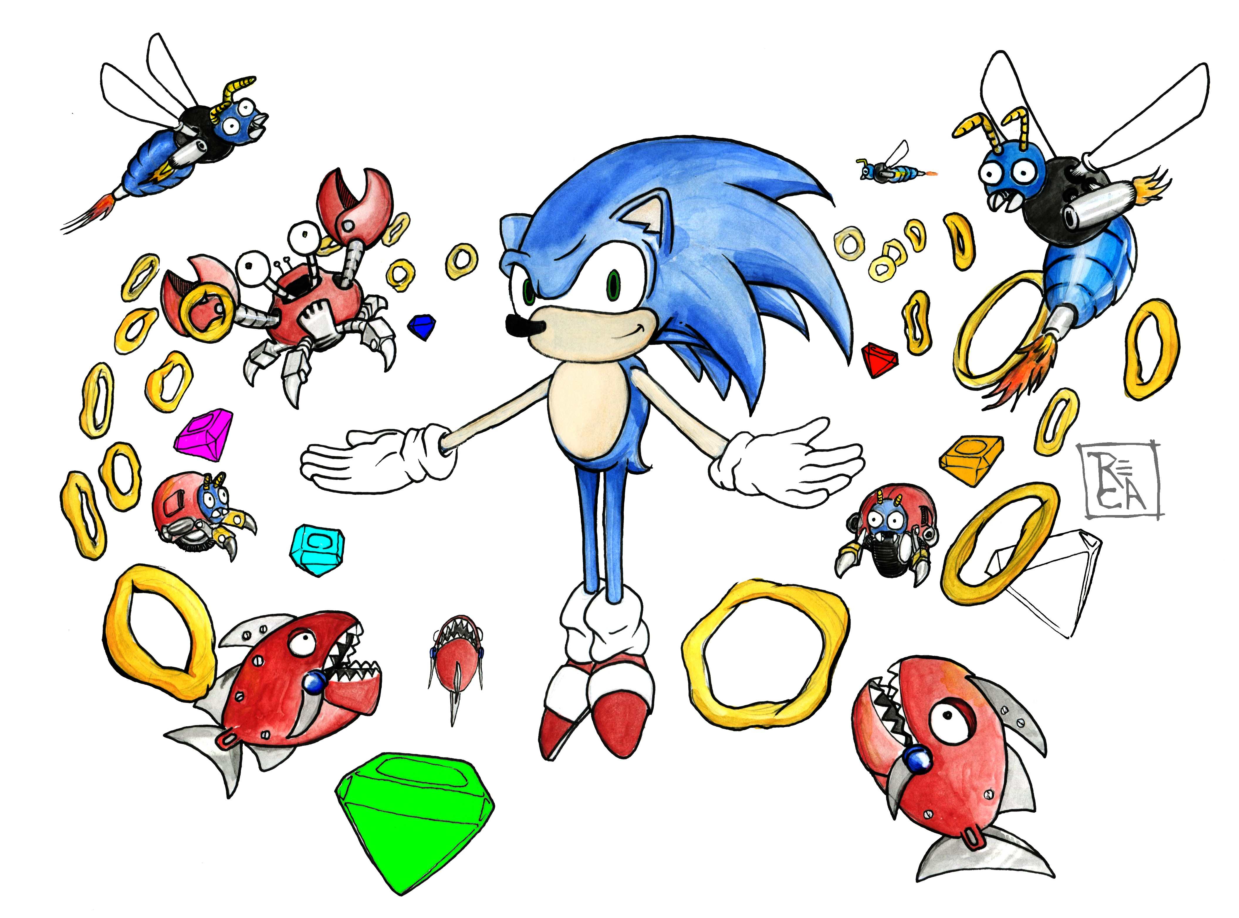 4223x3128 Wallpaper Drawing, Illustration, Video Games, Cartoon, Sonic