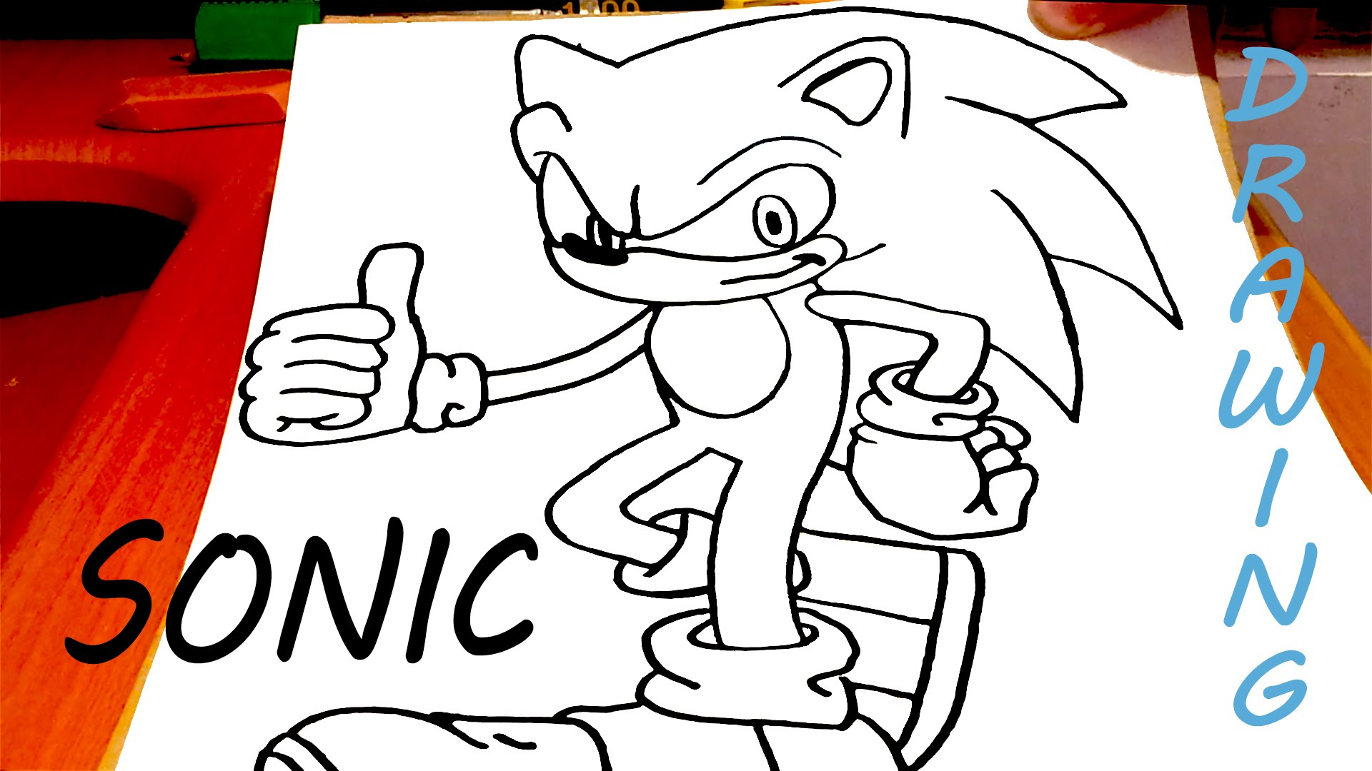 1920x1080 How To Draw Sonic The Hedgehog Easy