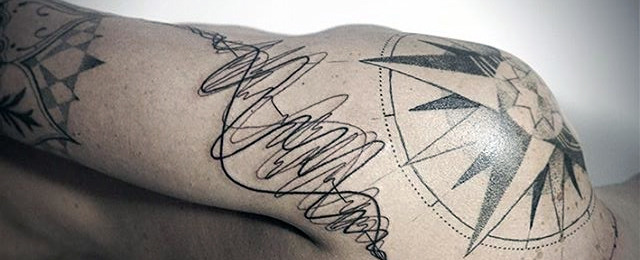 640x260 30 Soundwave Tattoo Designs For Men