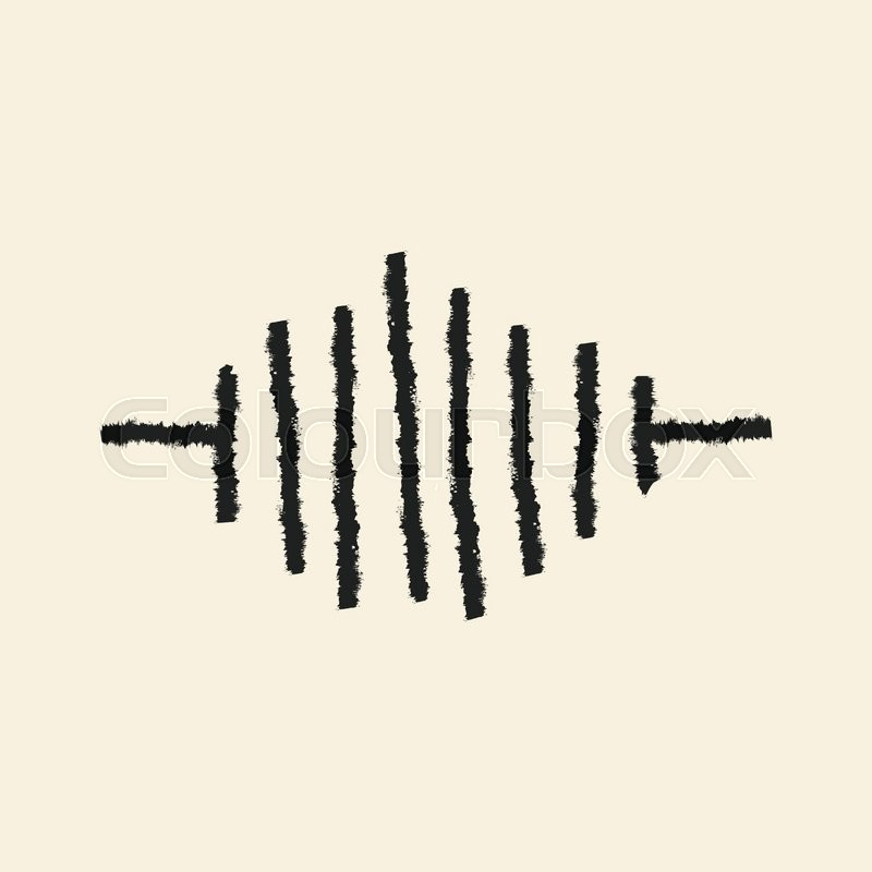 800x800 Doodle Drawing Sound Wave Stock Vector Colourbox