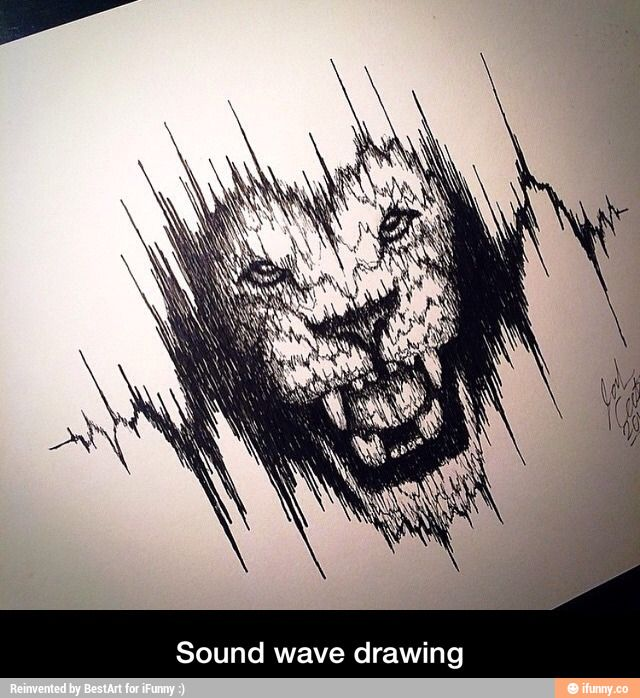 640x698 Found On Wave Drawing, Sound Waves And Tattoo