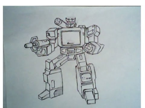 480x360 How To Draw Soundwave From Transformers (Robot Mode)