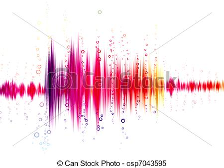 450x337 Sound Wave On A White Background Stock Illustrations