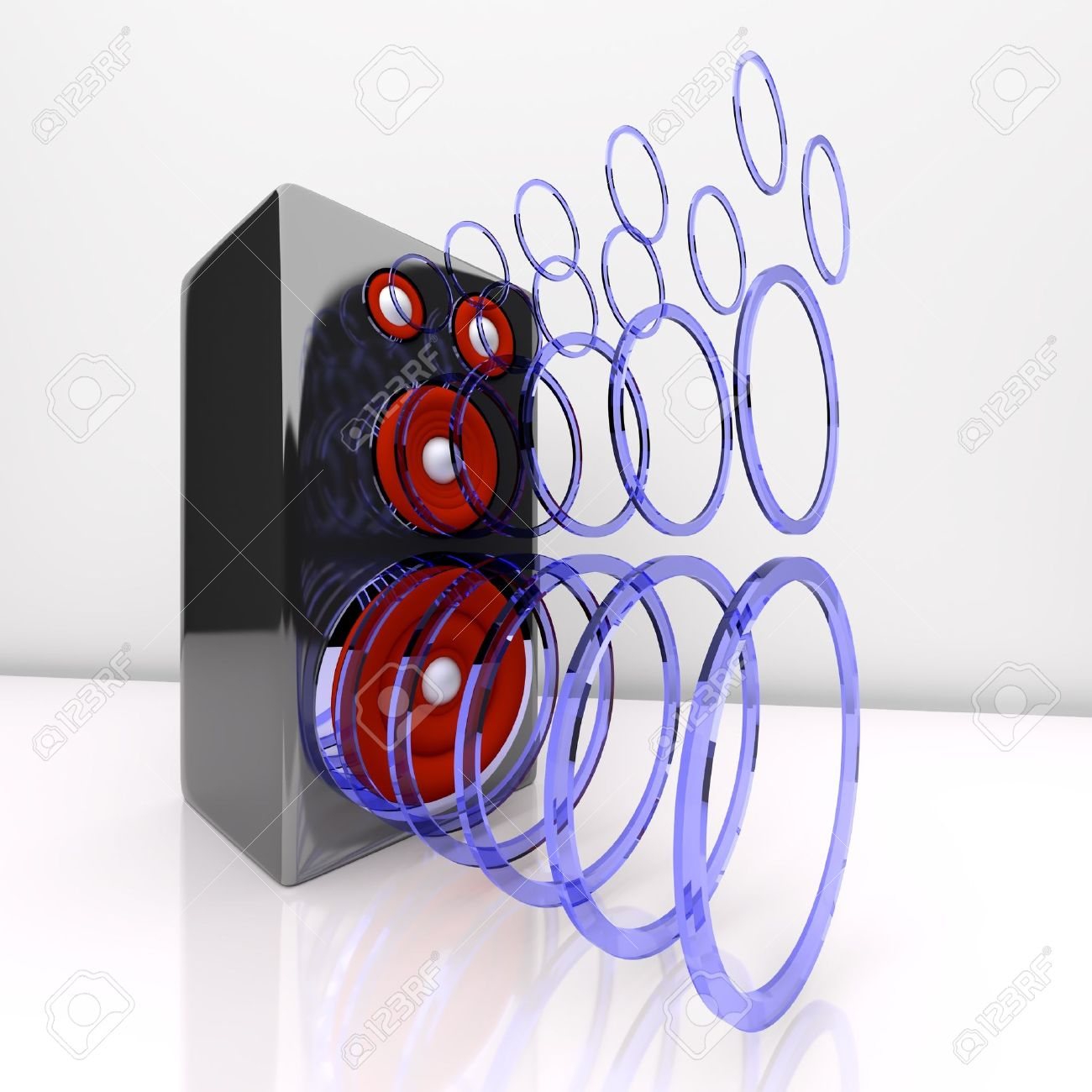 1300x1300 Speaker Playing Sound With Sound Waves Stock Photo, Picture