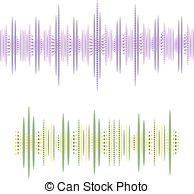 194x194 Abstract Colourful Line Sound Waves Banner. Rainbow Digital