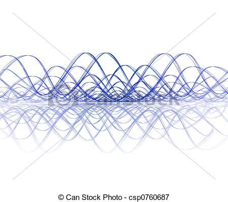 450x399 Cool Soundwave With Reflection. Cool Sound Wave With Stock