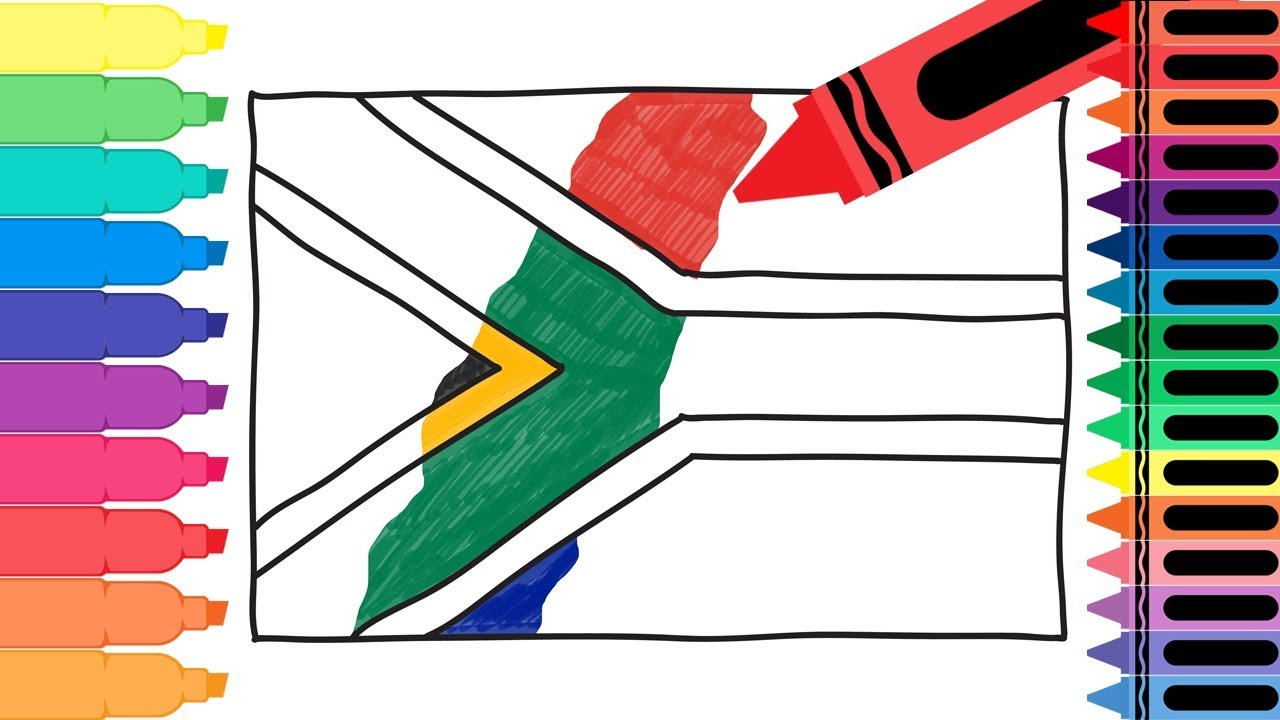 1280x720 How To Draw South Africa Flag