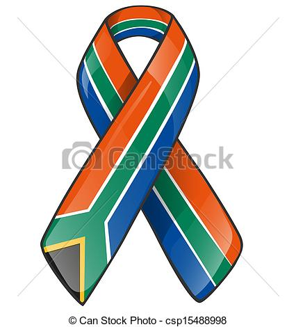 426x470 South Africa Ribbon Eps Vectors
