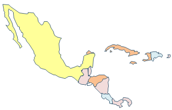 Central america map vector free