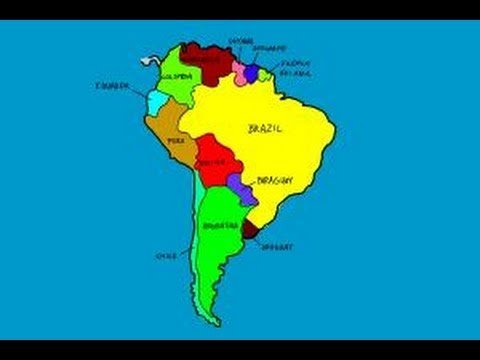 480x360 How To Draw South America