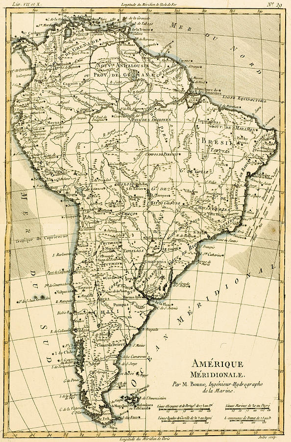 594x900 Map Of South America Drawing