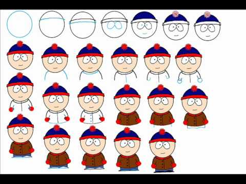 480x360 How To Draw Stan Marsh From South Park Easy Simple Step By Step
