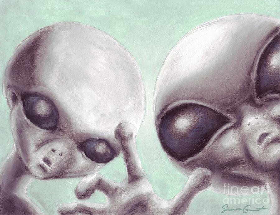900x691 Personal Space Invaders Drawing By Samantha Geernaert