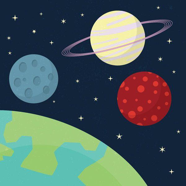 600x600 Beginner Illustrator Tutorial Cartoon Style Space Scene Vector