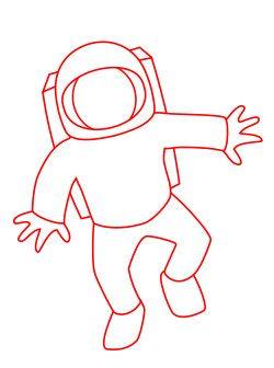 250x336 Drawing A Cartoon Astronaut Astronauts, Cartoon And Characters