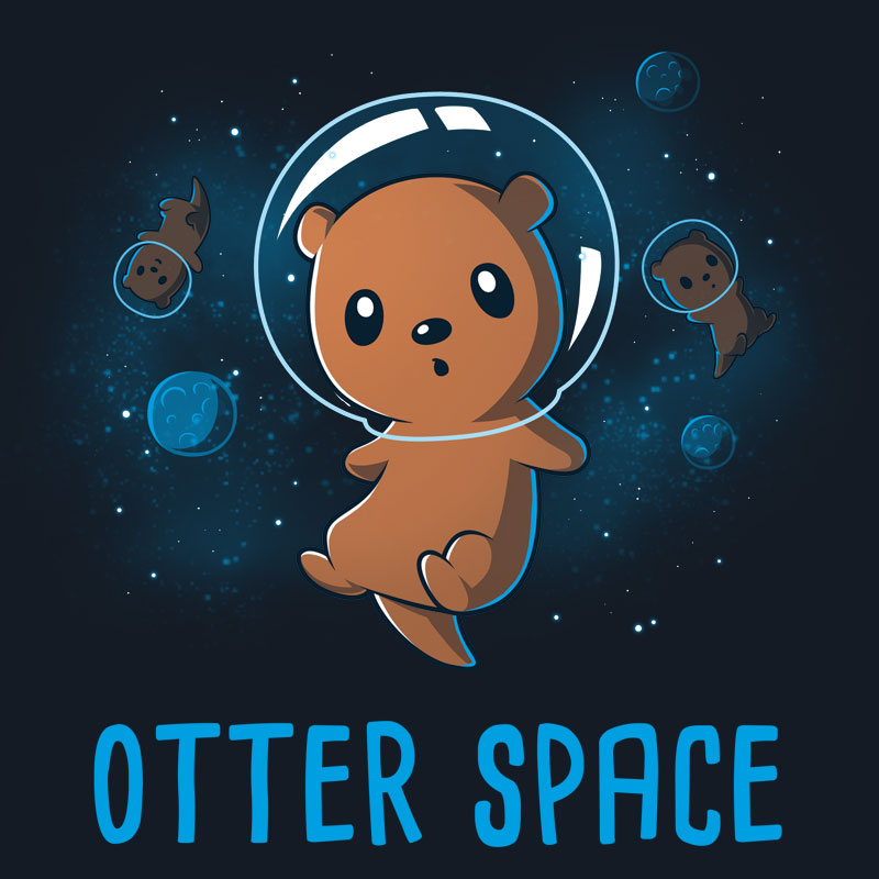 800x800 Otter Space Cotton Tee, Otters And Cotton