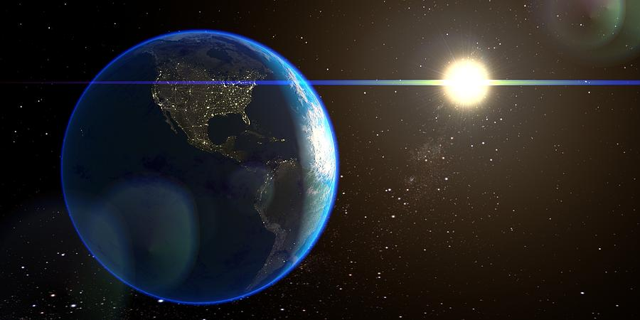 900x450 Night Lighted Earth From Space Drawing By Hq Photo