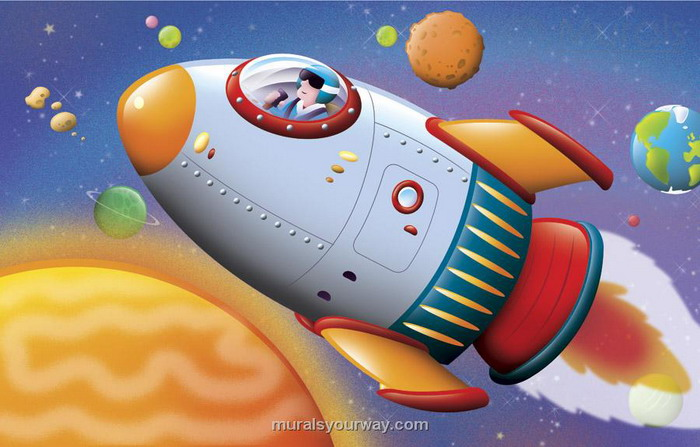 700x447 Kids Space Wall Mural
