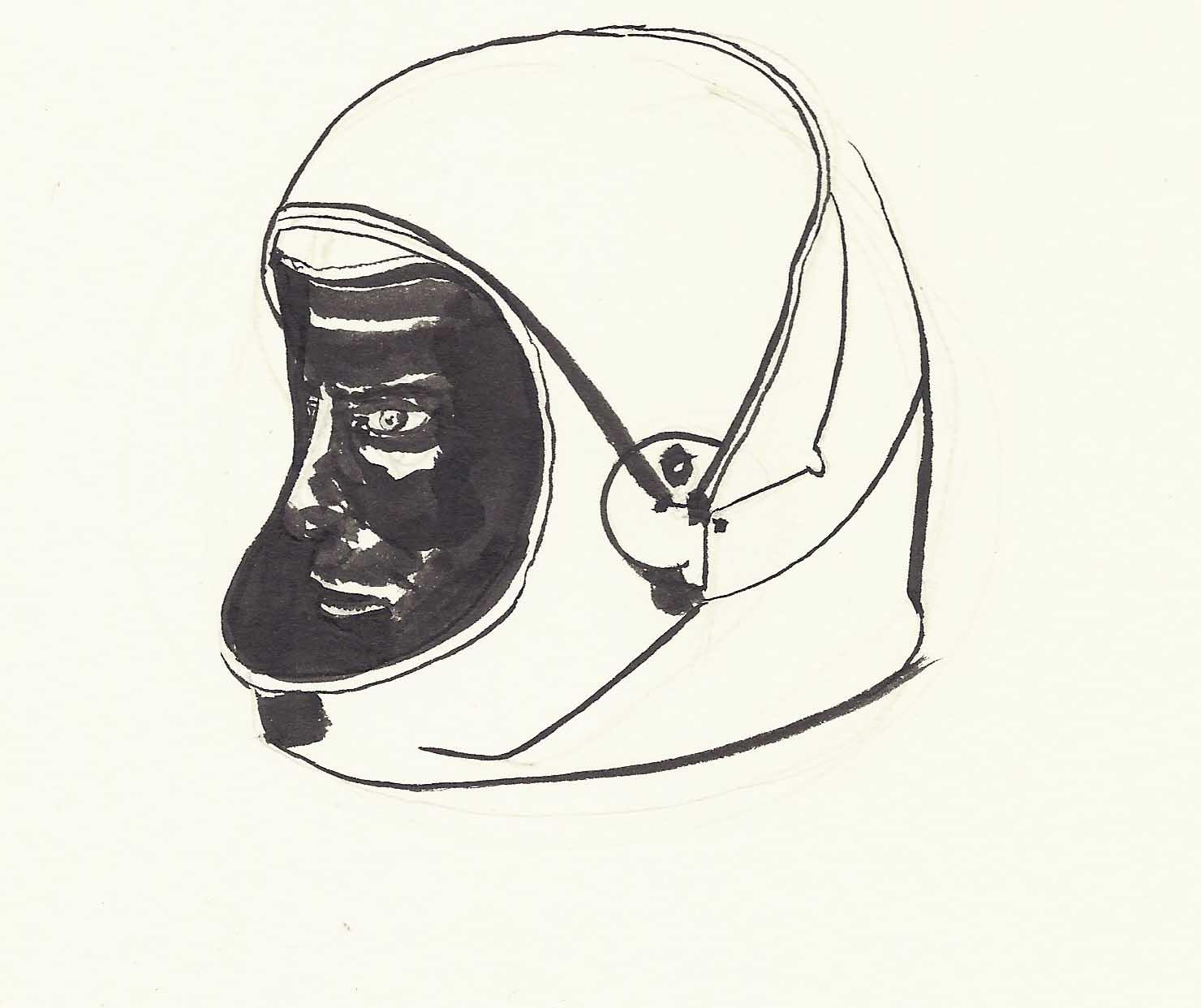 1480x1242 Astronaut Helmet Drawing