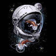 236x236 Fish In Space Astronaut Helmet
