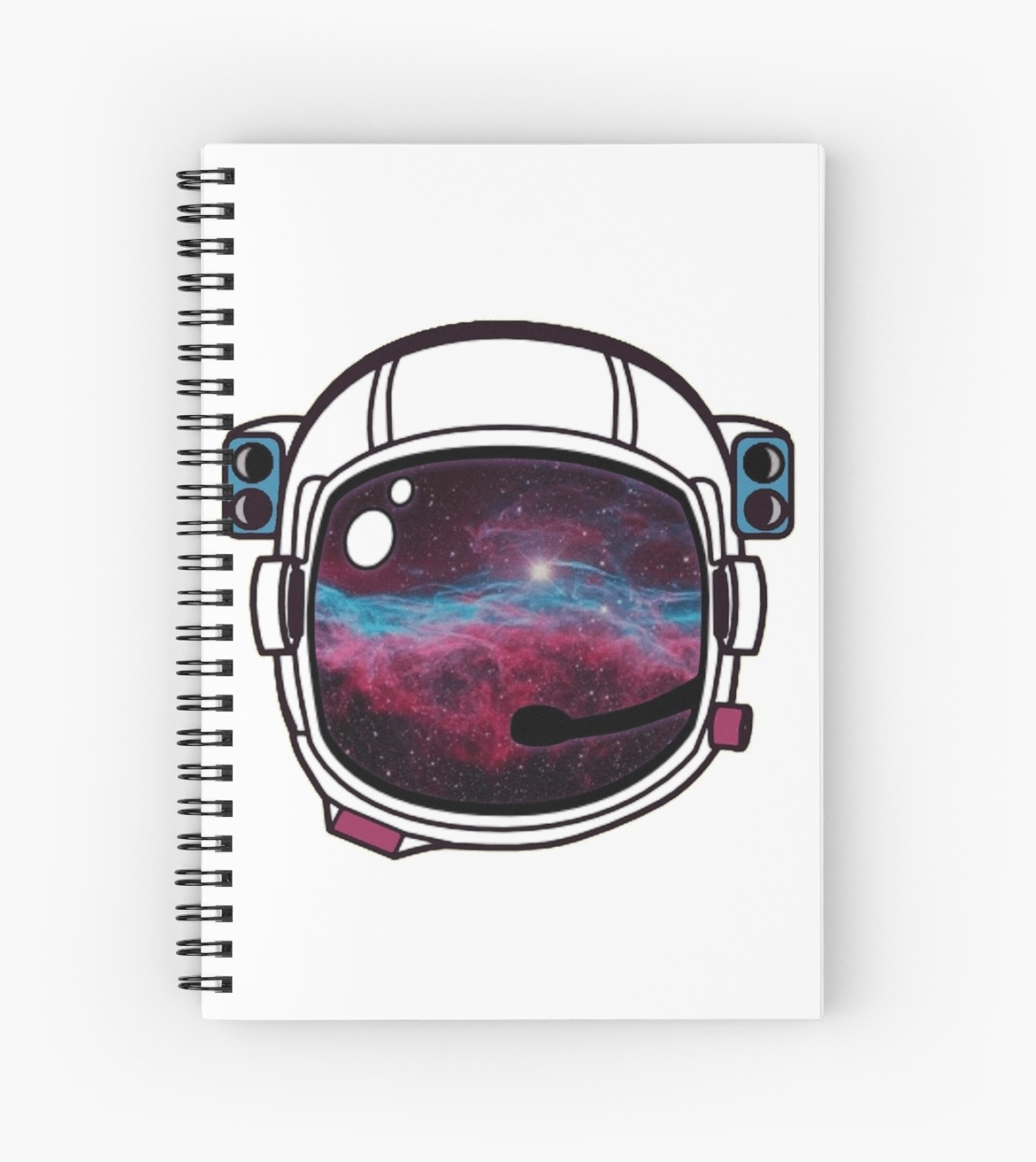 1171x1313 Outer Space Galaxy Astronaut Helmet Spiral Notebooks By Katedylan