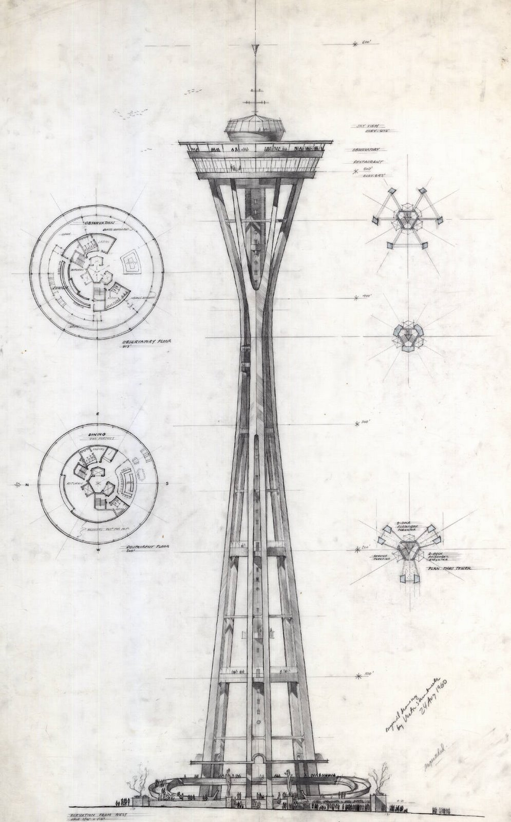 995x1600 A Preliminary Sketch Of The Space Needle By Victor Steinbrueck