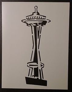 236x300 Seattle Space Needle 8.5 X 11 Custom Stencil Fast Free Shipping