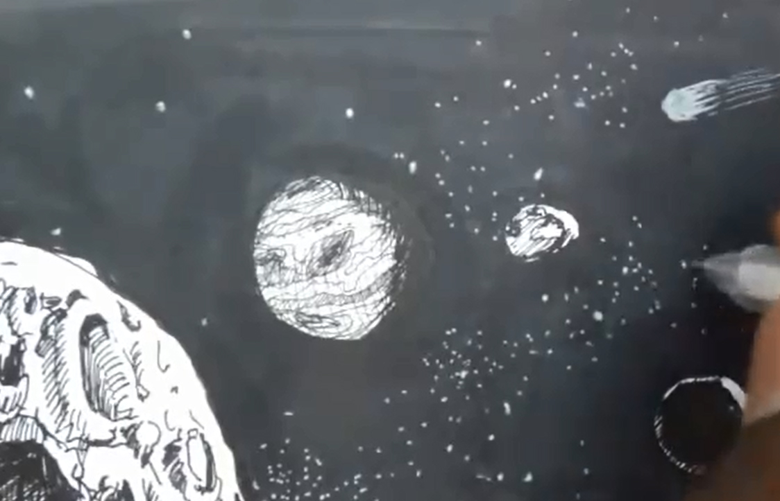 1124x723 Comic Book Video Tutorials How To Draw Outer Space