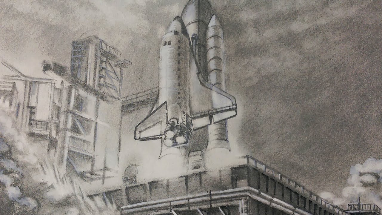 1280x720 Drawing Space Shuttle Launch Speed Drawing