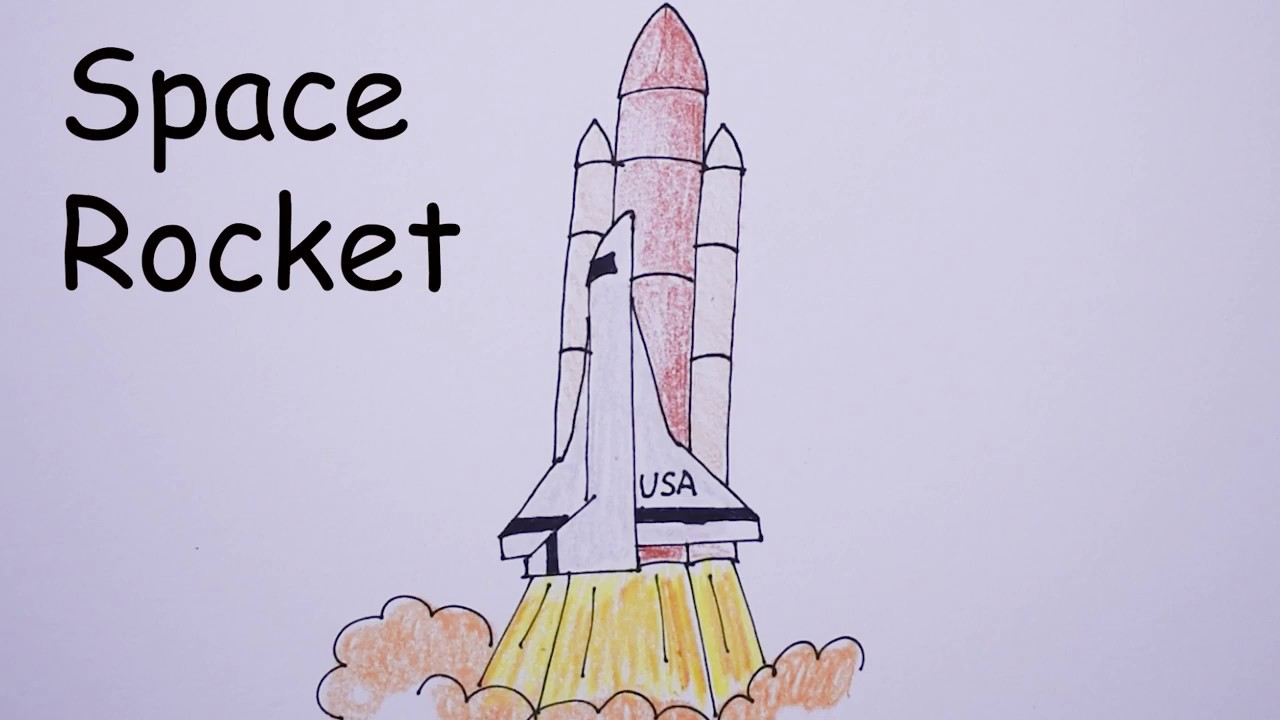 1280x720 How To Draw Space Rocket