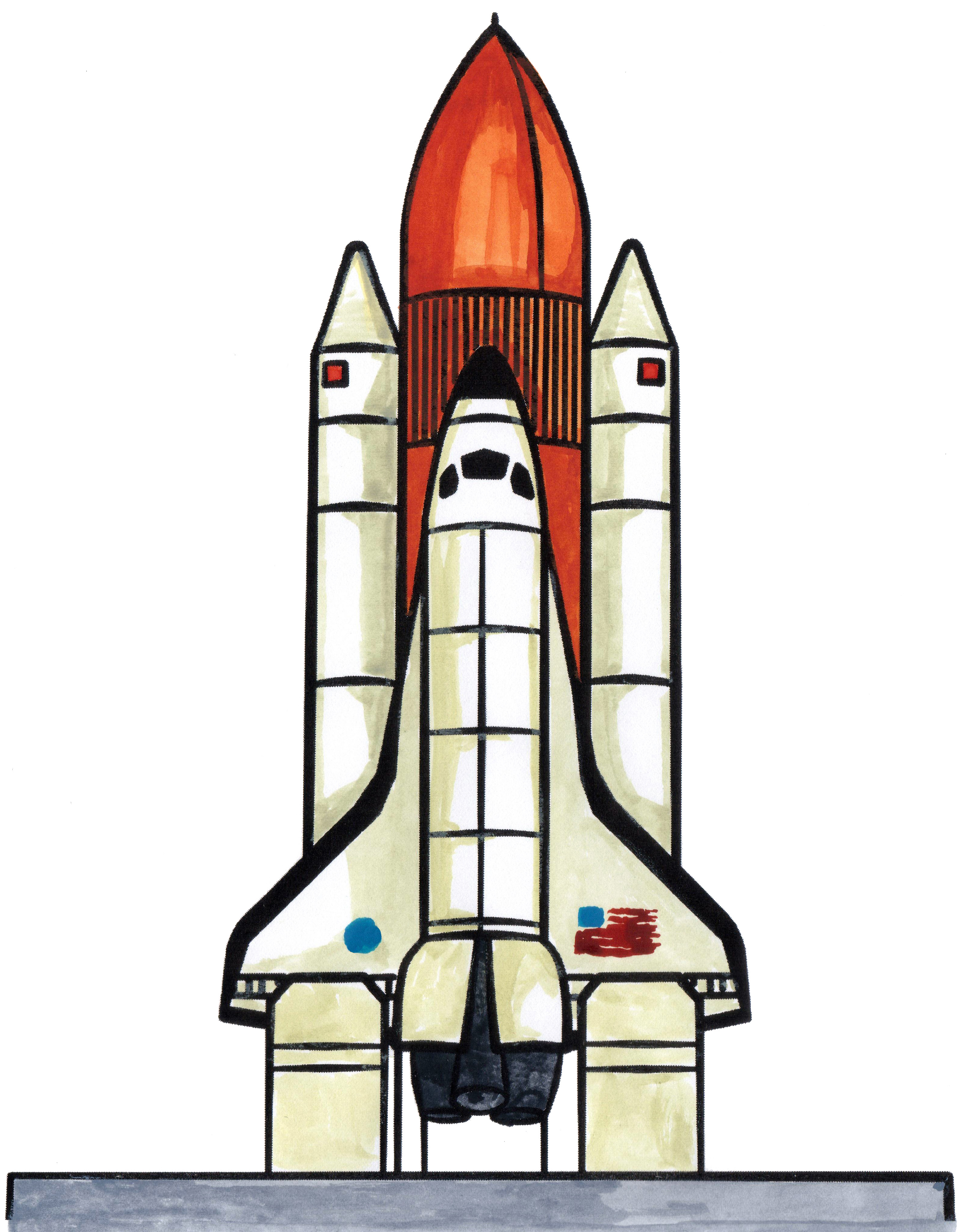 3167x4070 How To Draw A Space Ship, Or A Space Shuttle. How To Draw Space