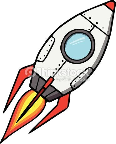 371x462 Space Rocket. Cartoon Vector Illustration Reflections