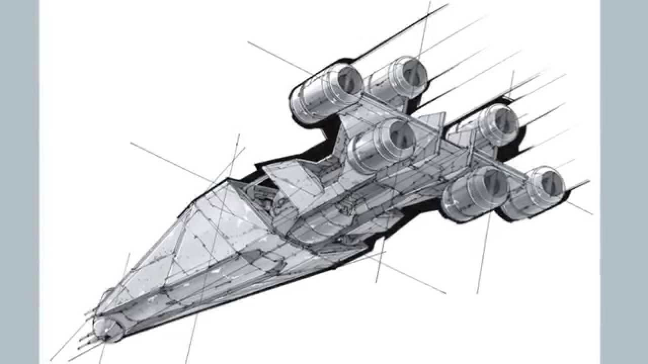 1280x720 How To Draw A Spaceship