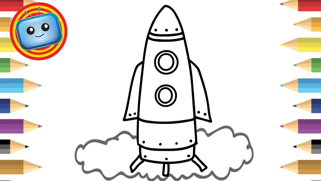 1280x720 How To Draw A Spaceship Colouring Book Simple Drawing Game