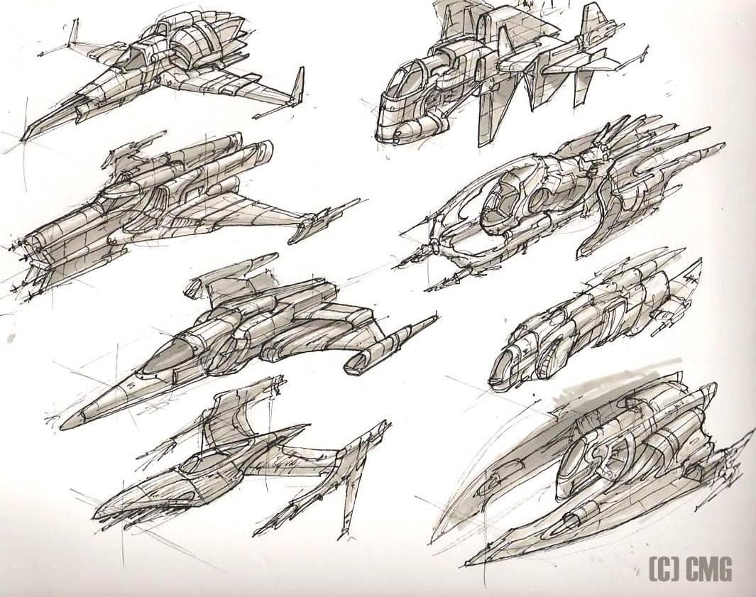 1065x841 No Man's Sky Space Ship Concepts Art
