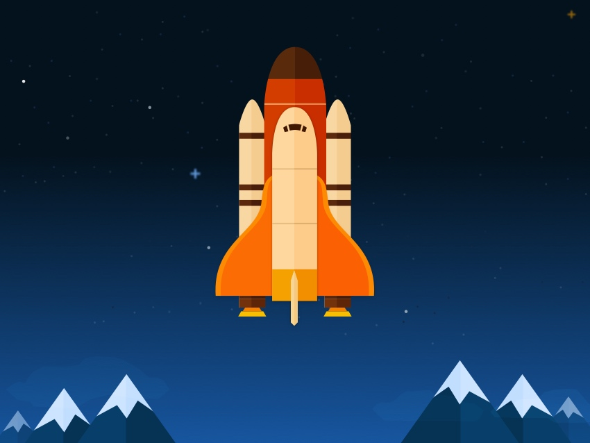 850x638 How To Create A Space Shuttle Scene In Sketch