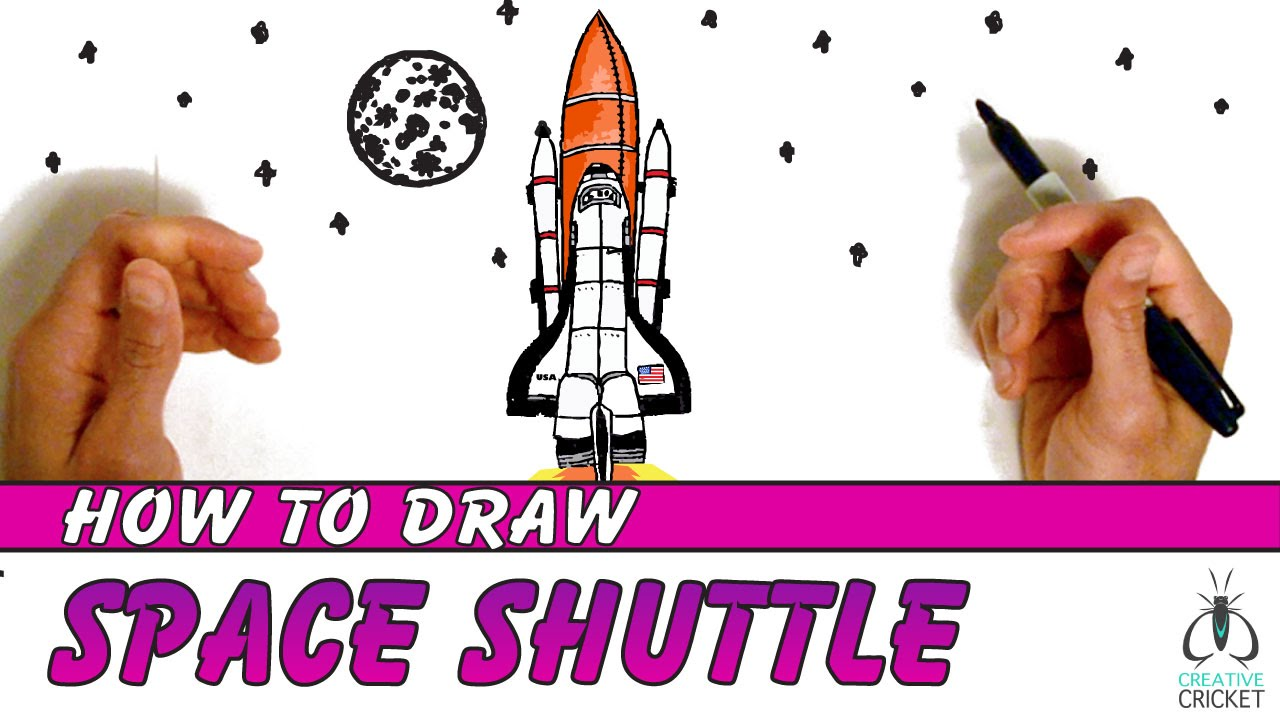 1280x720 How To Draw A Spaceship Step By Step Art Lesson For Kids