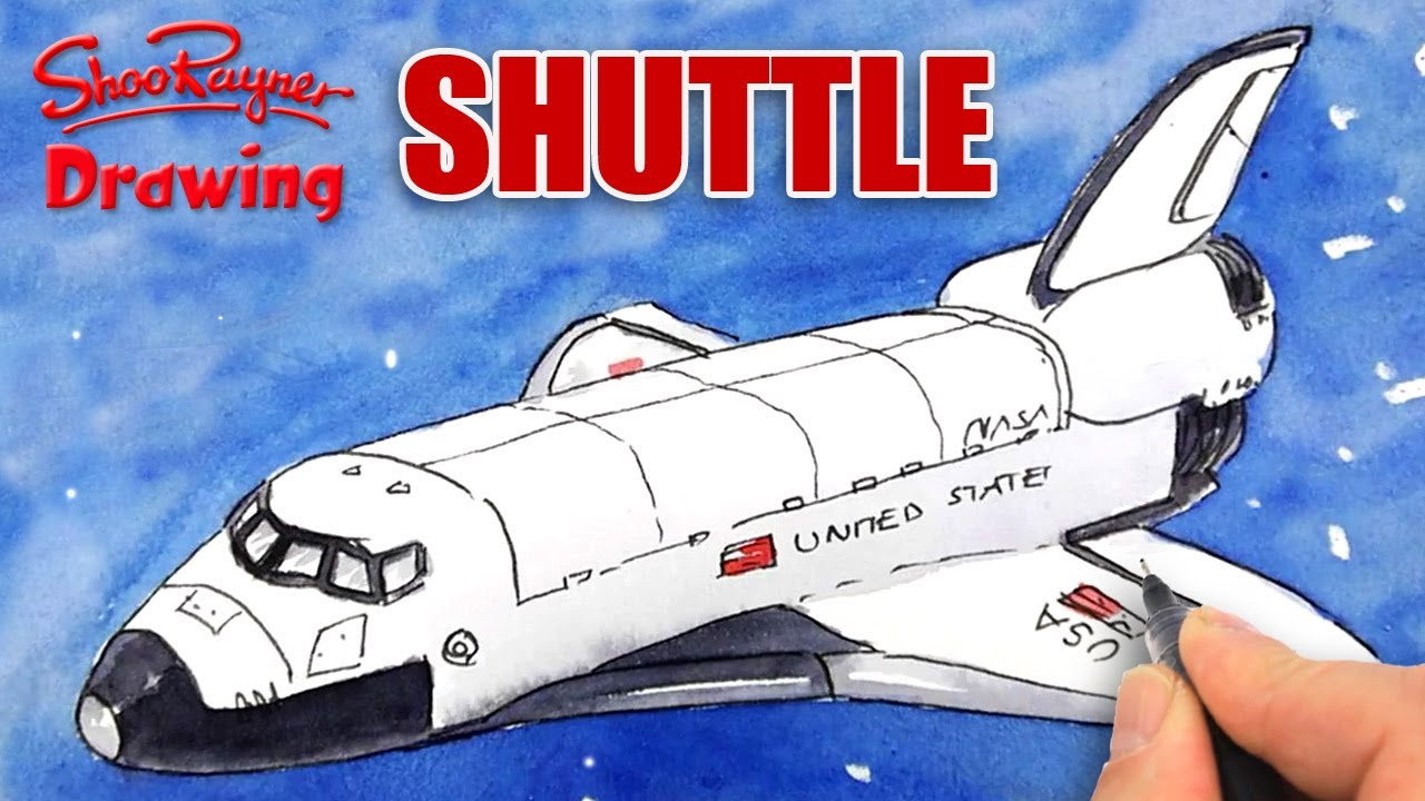 1280x720 How To Draw The Space Shuttle
