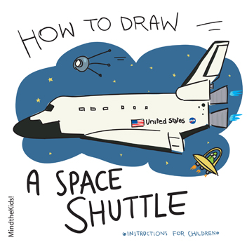 352x352 Mind The Kids How To Draw A Space Shuttle