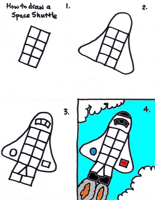 496x640 Space Shuttle Drawing Art For Kids