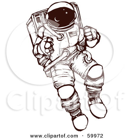 450x470 Astronaut Exploring In A Space Suit By Xunantunich Illustrations