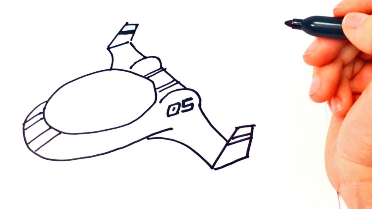 1280x720 How To Draw A Spacecraft Spacecraft Easy Draw Tutorial