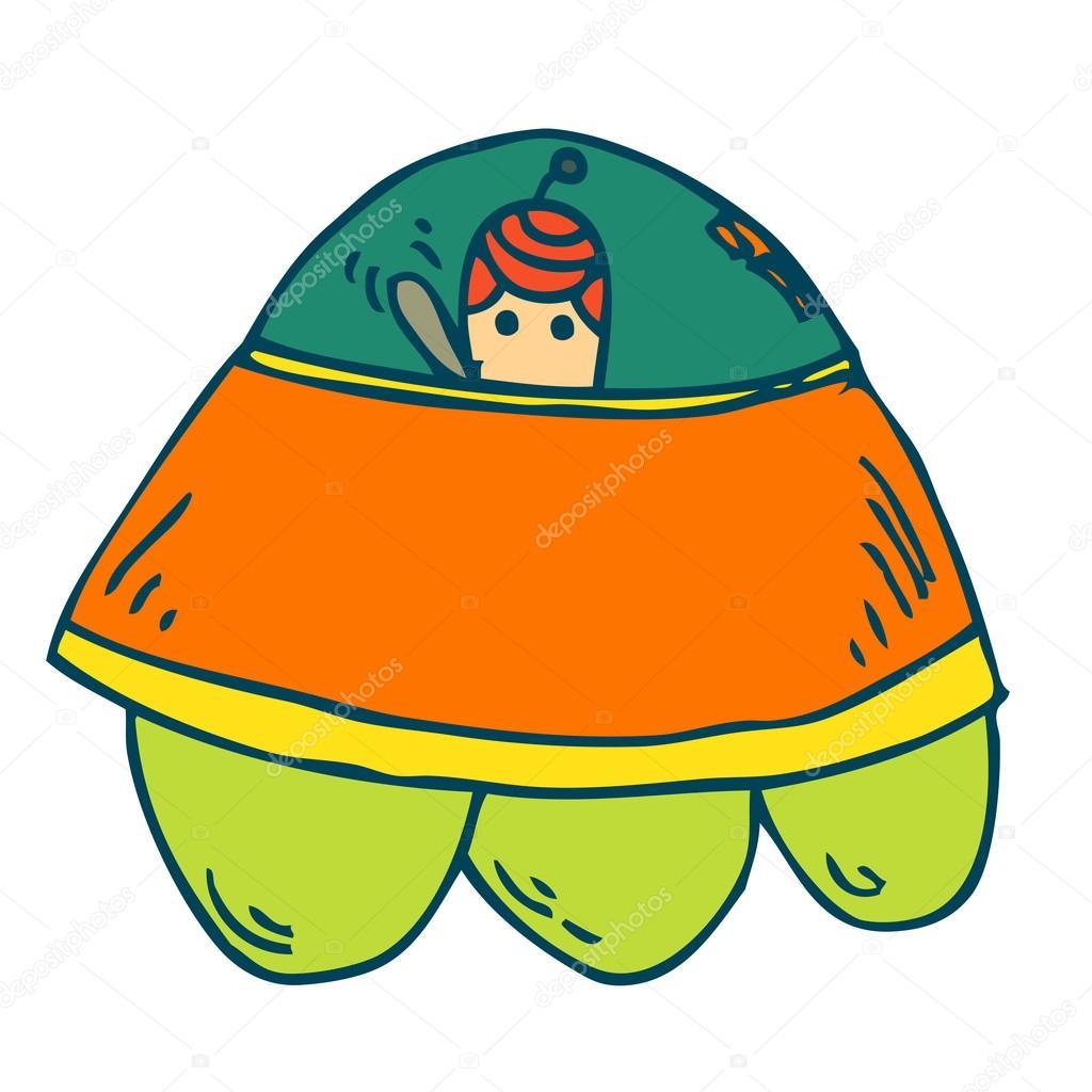 1024x1024 Drawing Spaceship Cartoon Stock Vector Jumpe