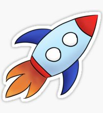 210x230 Cute Spaceship Drawing Stickers Redbubble