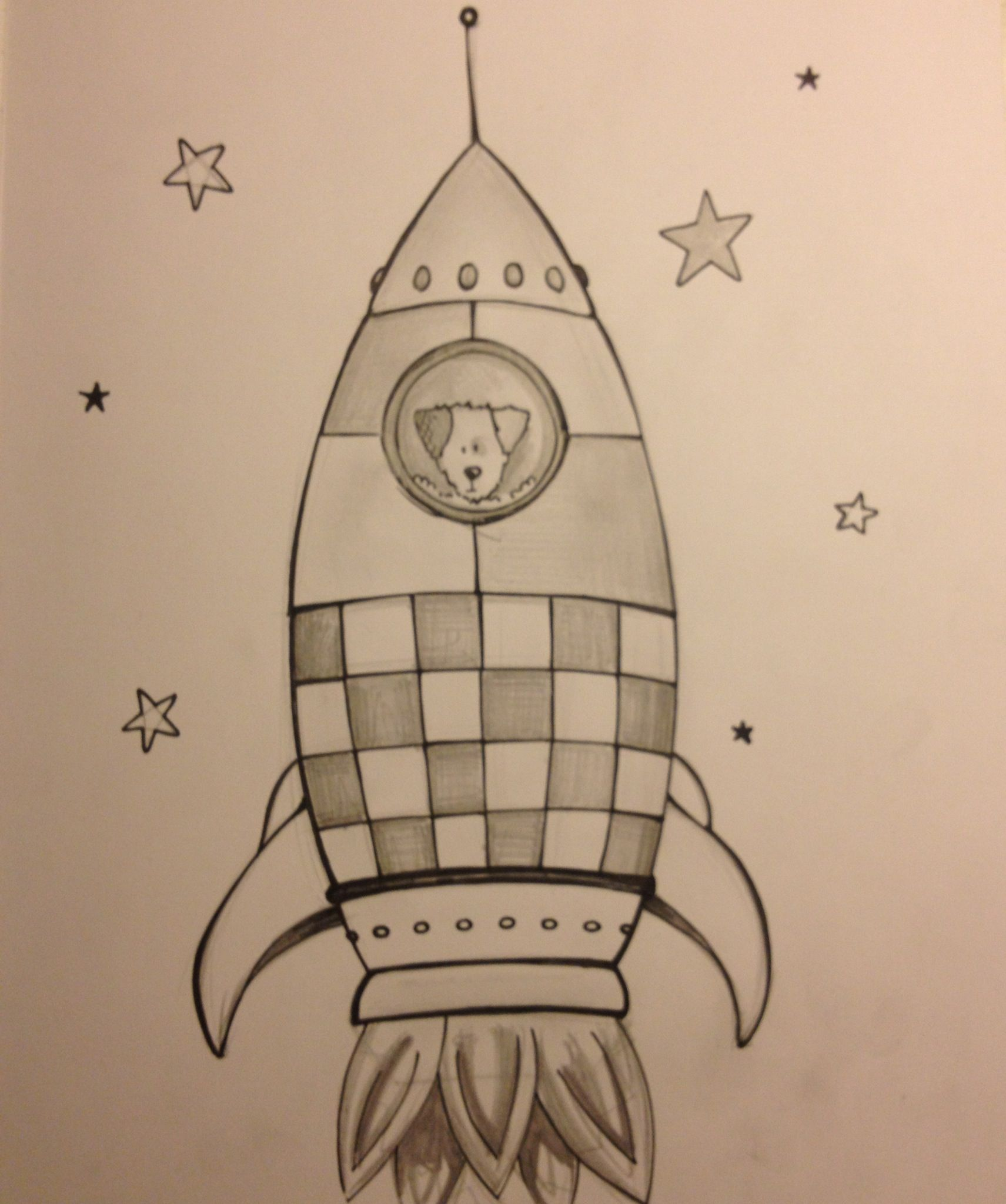 1711x2047 Laika The Astronaut Dog Tattoo Sketch Book Spaceship Rocket