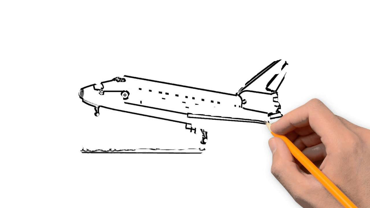 1280x720 Spaceship Transport Is A Pencil To Draw Step By Step