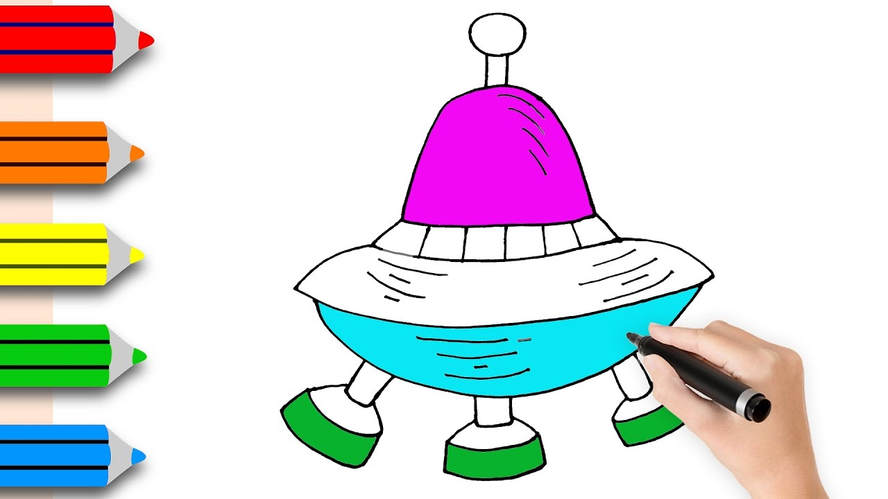 1280x720 Coloring Pages Spaceship