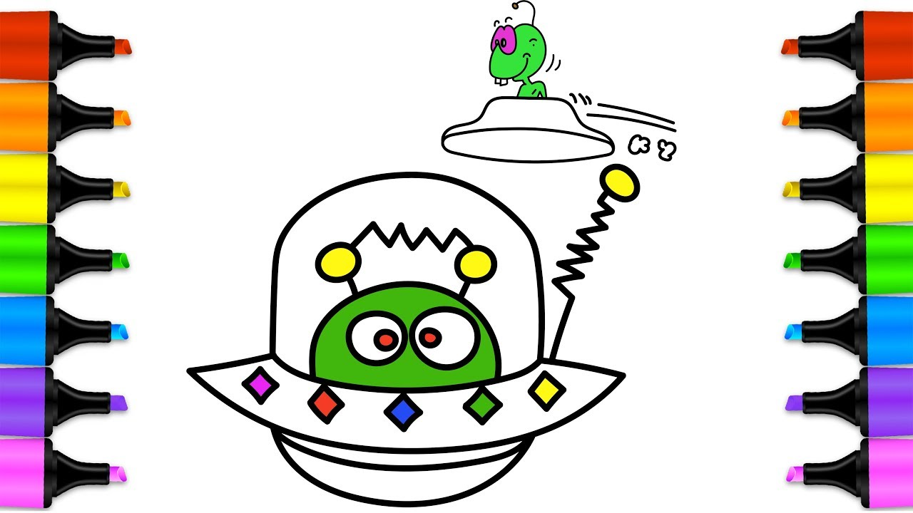 1280x720 Coloring Pages And How To Draw Spaceship Drawing And Coloring
