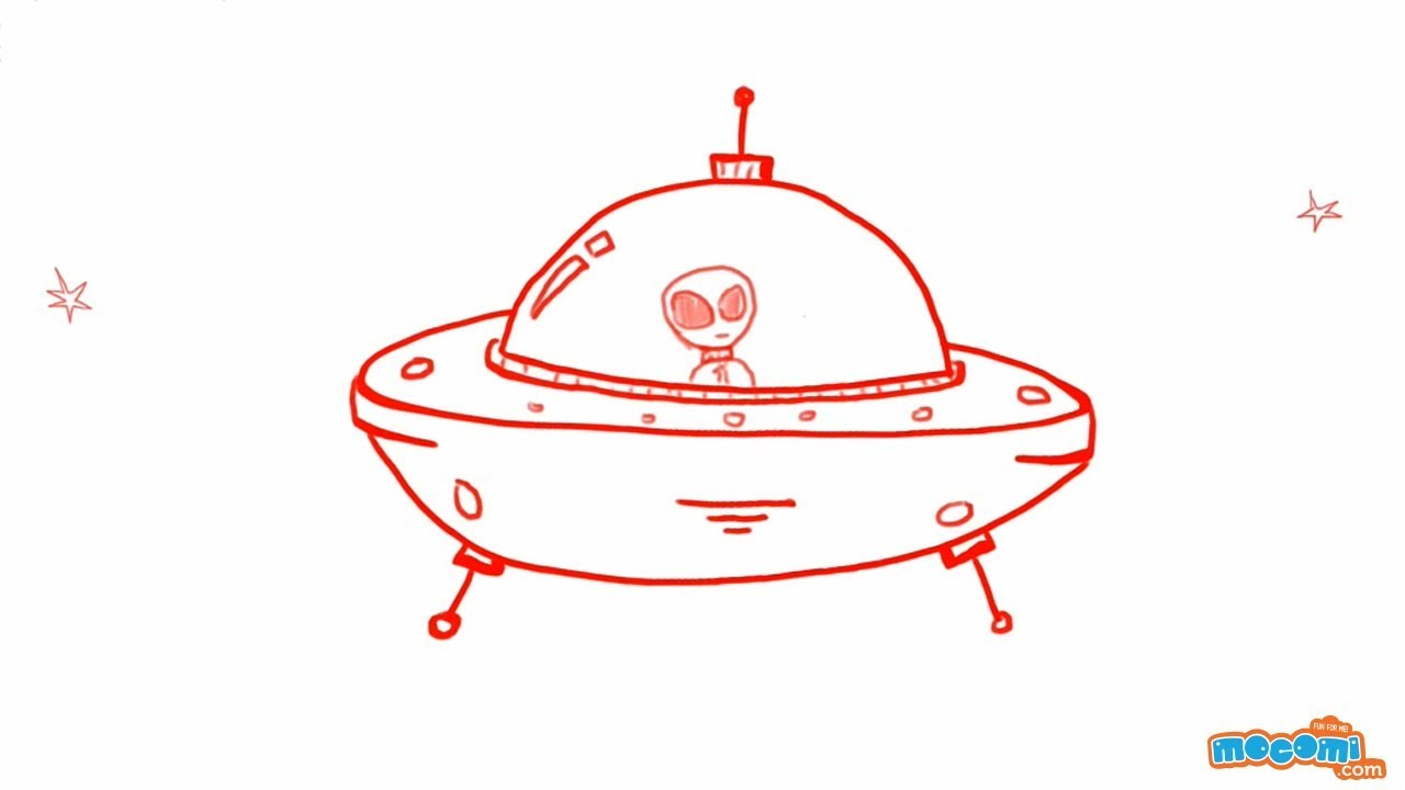 1280x720 How To Draw A Spaceship (Ufo)